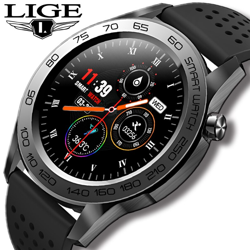 LIGE New Smart Watch Men All Touch Music Control Sports Fitness Tracker Smartwatch Blood Pressure He