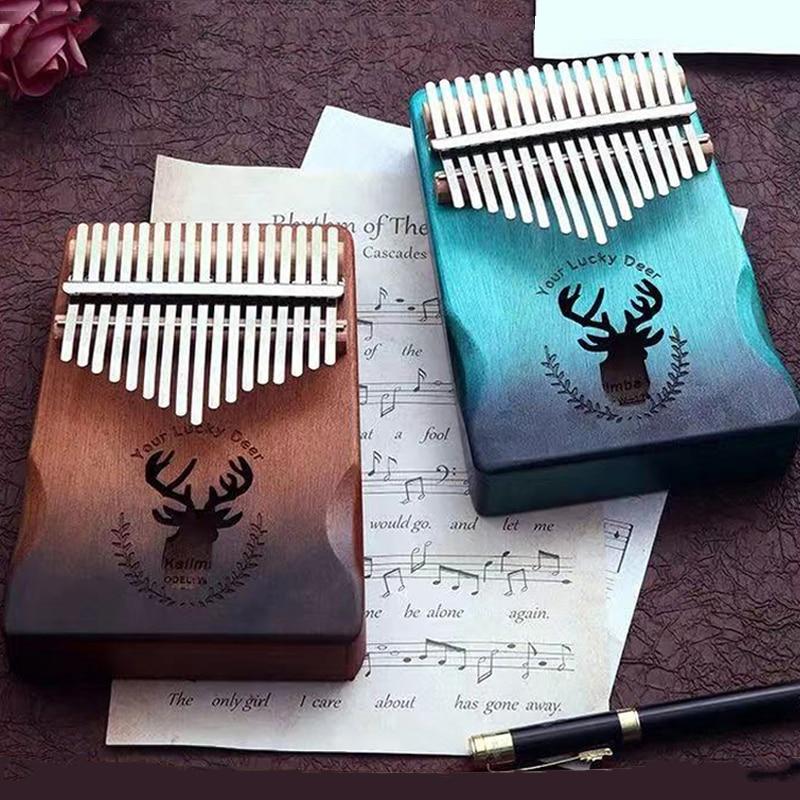 Kalimba 17 Key Thumb Piano High Quality Wood Mahogany Mbira Body Africa Kalimba Piano Musical Instruments with Accessories enlarge