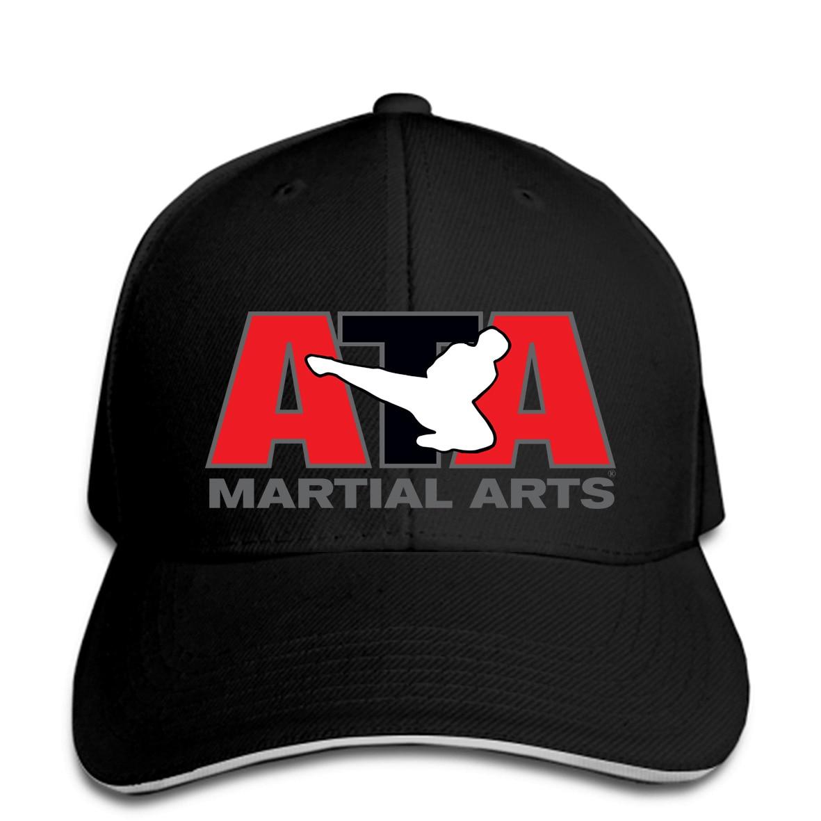 Los hombres gorra de béisbol americano Taekwondo Asociación Ata artes marciales gorra de béisbol con logotipo sombrero de mujer alcanzó su punto máximo
