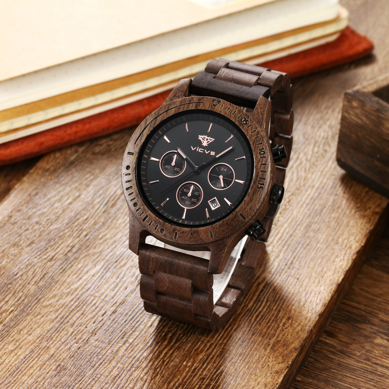 watches mens 2021 Wood Watches Week Display Date High Quality Quartz Male Watches Dropshipping watch