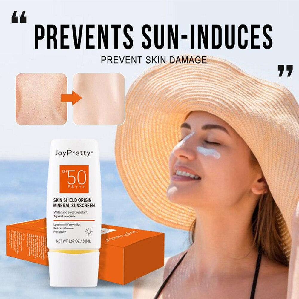 Солнцезащитный лосьон JoyPretty для лица и тела, защита от Уфа и уфв, водостойкий и нежирный Увлажняющий солнцезащитный крем