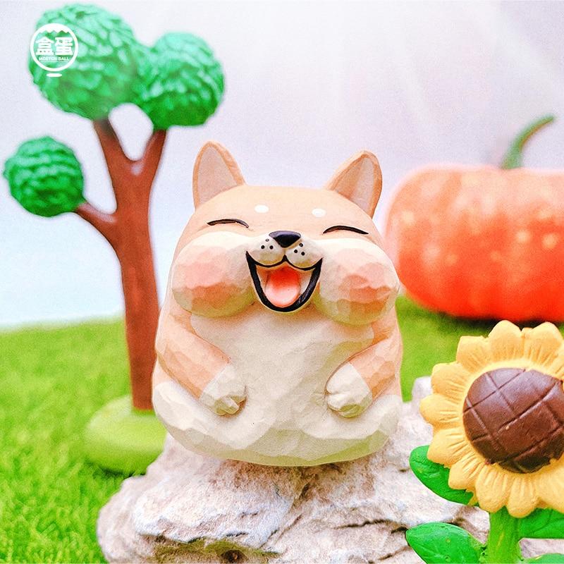 Blind Box Genuine Animal Fruit Series Box Egg Mobile Phone Stand Toy Gacha Decoration Gift