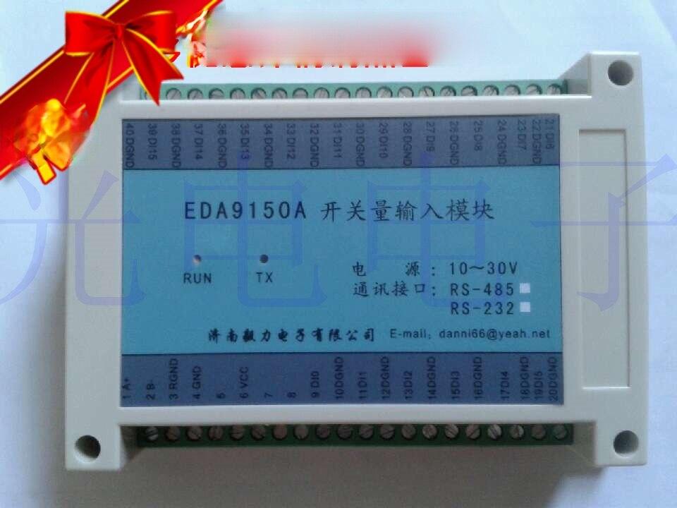 16 قناة التبديل قيمة بطاقة اكتساب وحدة الإدخال الرقمي عداد RS485 معدل الباود 9600