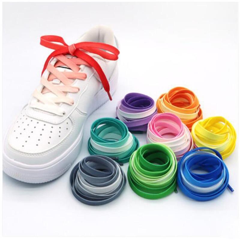 1Pair / Colorful Shoelaces Flat Shoe laces Fashion Rainbow Canvas Leisure Candy Party Fabric Shoelac