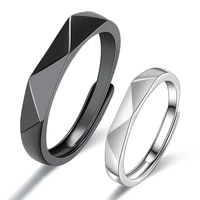 new simple geometric multi section adjustable matching rhombus wedding ring 2021 couple engagement jewelry party party gift