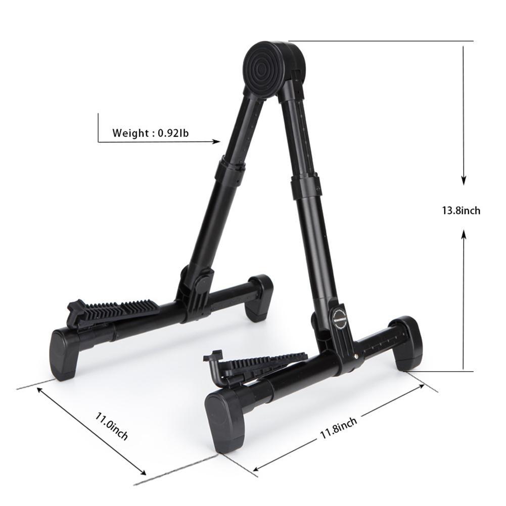 Portable Aluminum Floor Guitar Stand Adjustable Foldable Stand Holder for Electric Folk Acoustic Guitars Basses Ukuleles Violin enlarge