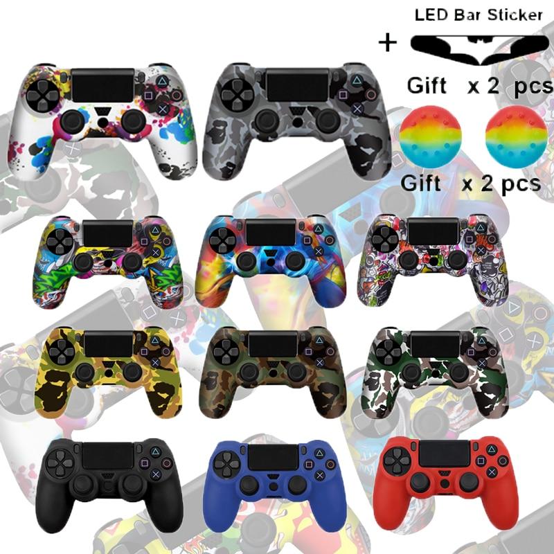 Камуфляжный силиконовый гелевый защитный чехол-накладка для PS4 контроллера, чехол-накладка для Playstation 4 Pro/тонкий прочный чехол-накладка