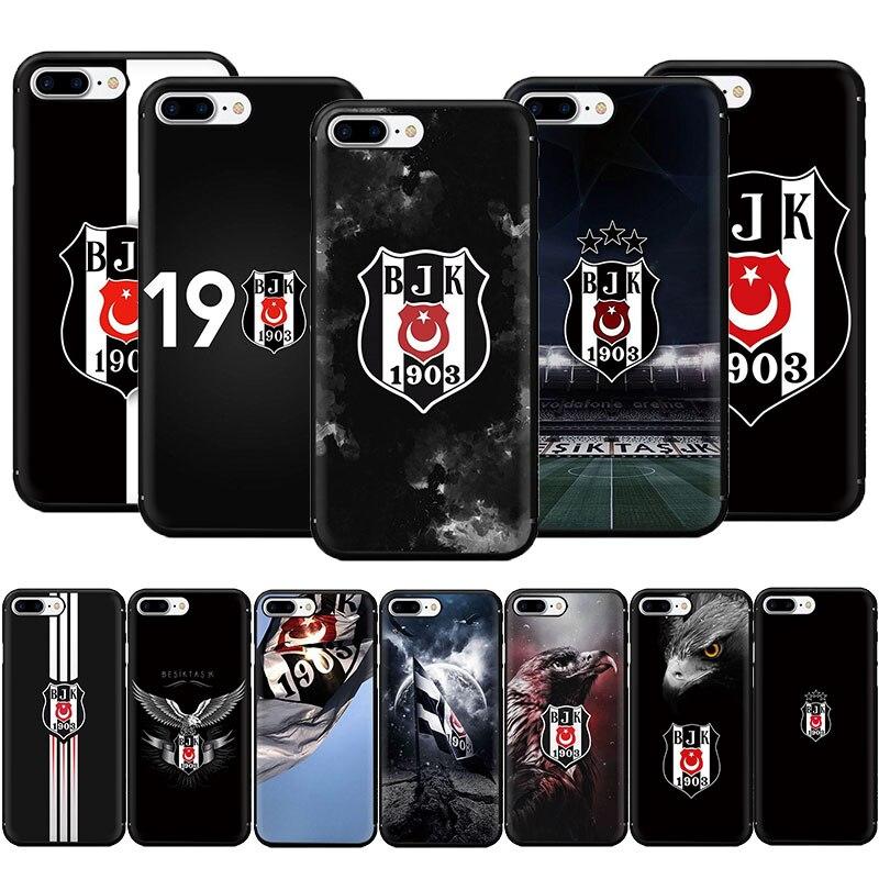 Turquia besiktas futebol macio tpu caso de telefone para o iphone se 2020 11 pro 5 5S 6s 7 8 plus x xr xs max