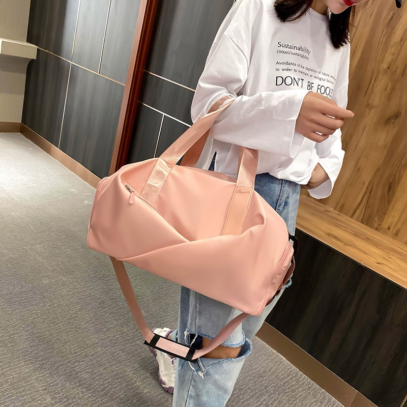 Fitness bag 2021 new sports backpack tide swimming portable slant cross luggage bag dry wet separation large capacity Backpack