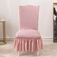 1246 bubble plaid gauze skirt dining chair cover stretch chair cover stretch chair cover wedding party chair cover