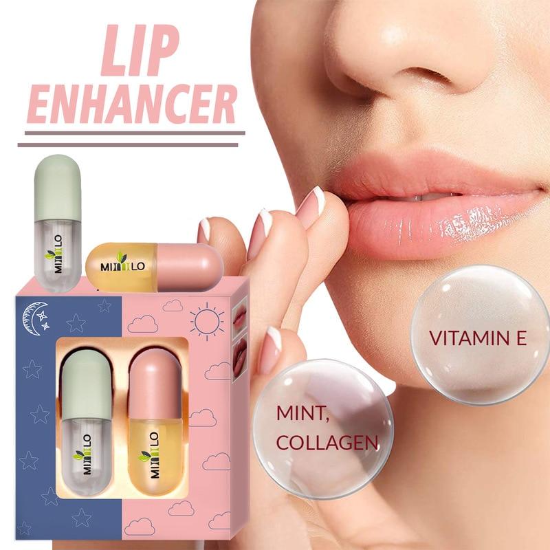 Moisturizing Essence Lip Oil Nourishes Repairs Diminishes Lip Wrinkles Lip Care Day Night Volume Lips Cosmetics Plumper Oil