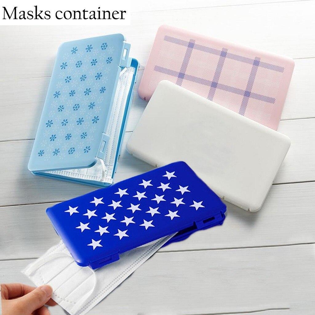 Bolsa de almacenamiento plegable para mascarillas, caja de plástico con Clip para...