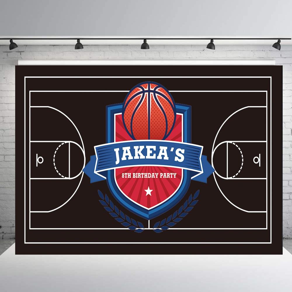 Fondo con tema deportivo de baloncesto, banderines personalizados para fiesta de cumpleaños, pizarra para niños, decoración para fiesta de bienvenida de bebé, cabina de fotos, estudio propB377