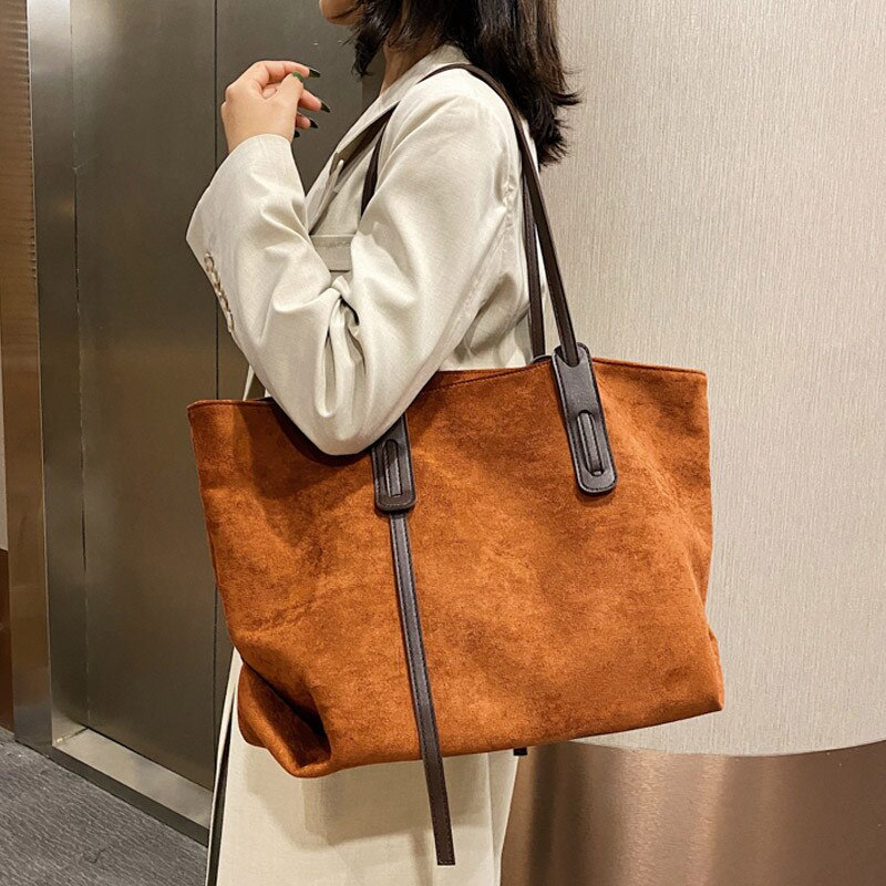 2020 winter new women Handbags large Capacity Solid color Shoulder Bags Female Travel big Totes Lady Fashion Elegant Hand Bag