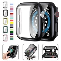 glasscover for apple watch case 44mm 40mm iwatch 42mm 38mm accessories bumper screen protector apple watch series 6 5 4 3 2 se