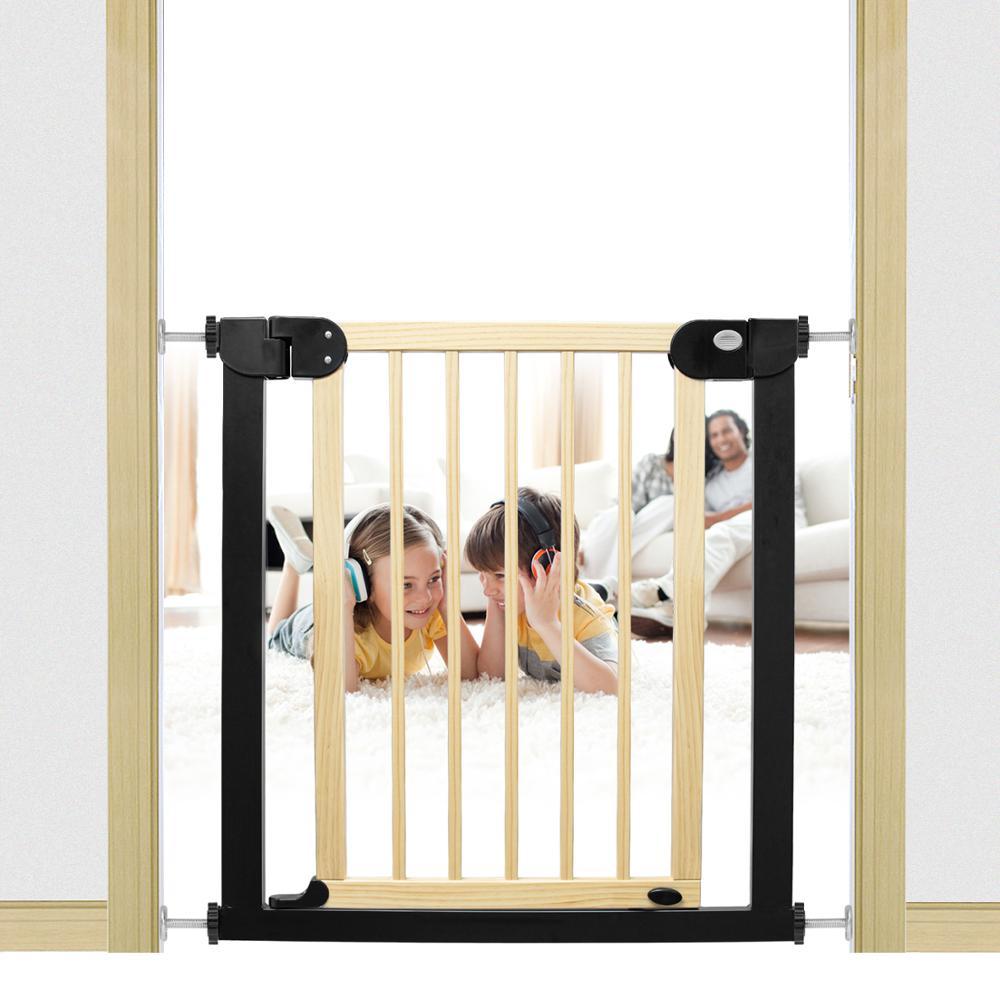 criancas porta de seguranca do bebe pet cerca de madeira macica protecao escadas