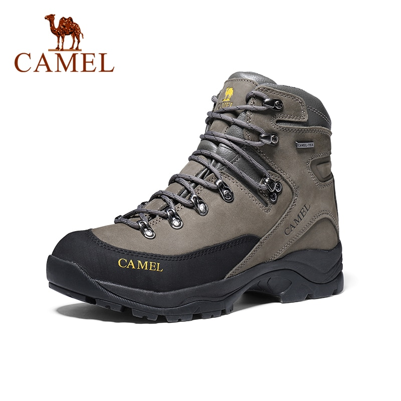 aleader winter warm men hiking trekking boots men outdoor walking shoes genuine leather climbing sneakers jogging shoes with fur CAMEL Men Hiking Shoes Anti-slip Genuine Leather Damping Tactical Warm Boots Shoes Climbing Trekking Boots Outdoor Shoes