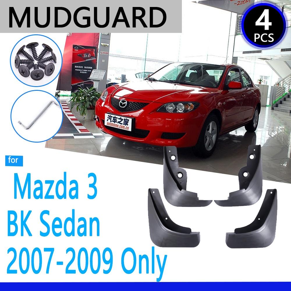 Mudguards apto para mazda 3 bk saloon sedan 2004 ~ 2009 2005 2006 2007 2008 acessórios do carro mudflap fender peças de reposição automóvel