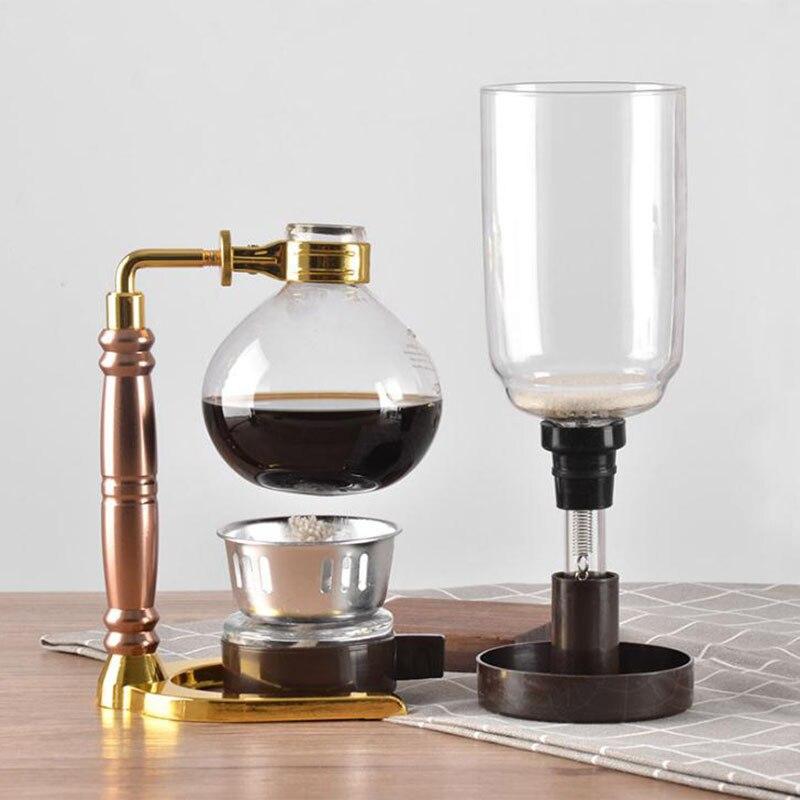 سيفون-مجموعة من 3 أكواب ، أواني سيفون ، فلاتر شاي على الطريقة اليابانية ، آلة سيفون مقاومة للحرارة
