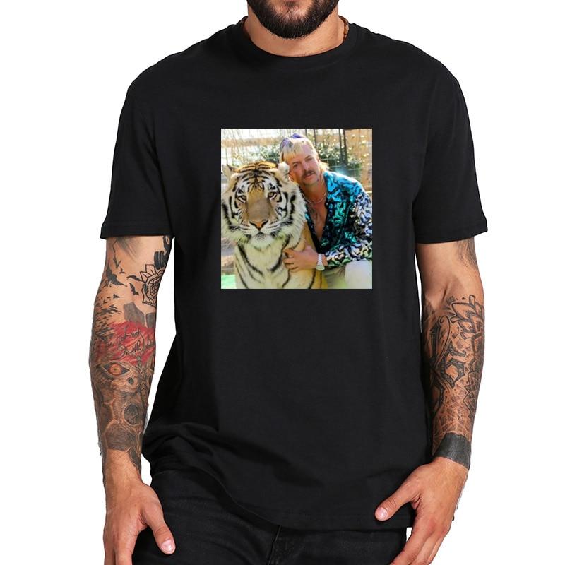 Joe Exotic T-Shirt Zoo Operator Tigers T Shirt EU Size 100% Soft Black Short Sleeved Tee Tops
