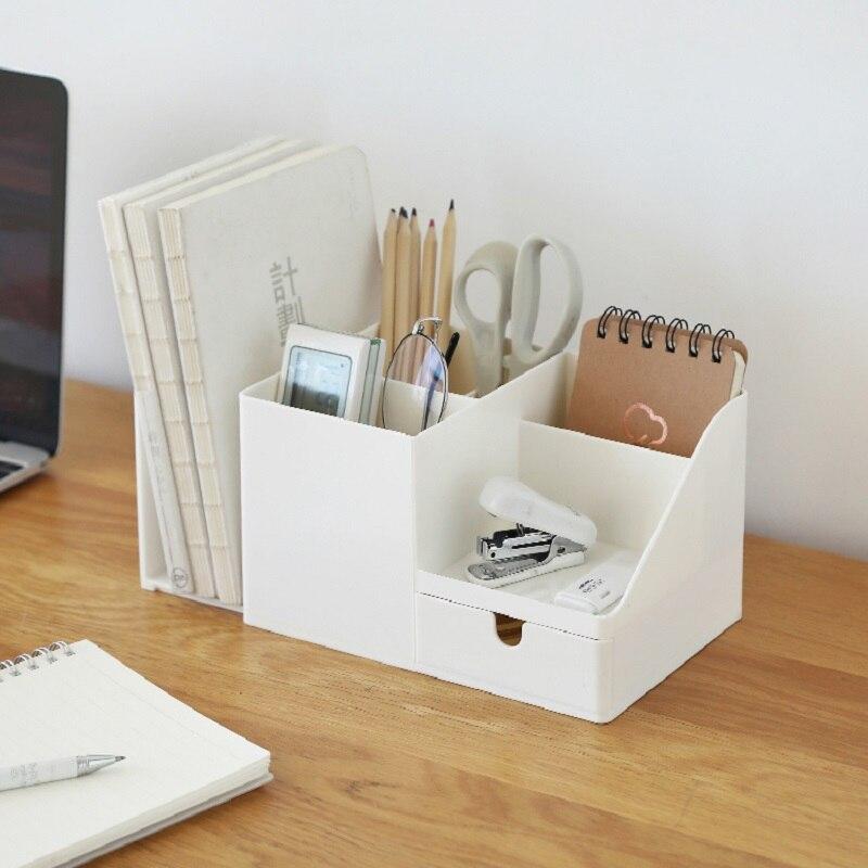 Коробка для хранения стола, пластиковая коробка для хранения макияжа, контейнер для макияжа, органайзер для канцелярских принадлежностей, ...