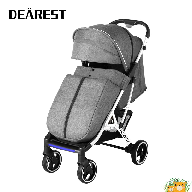 Dearest 819 2021 New Baby Stroller Night Mosquito Repellent Warning Light  More Comfortable Seat One-button stroller enlarge