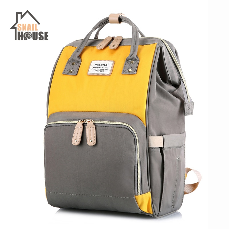 Bolsa de lactancia Snailhouse, mochila de viaje de gran capacidad para maternidad, mochila de moda para bebé, mochila para bebé