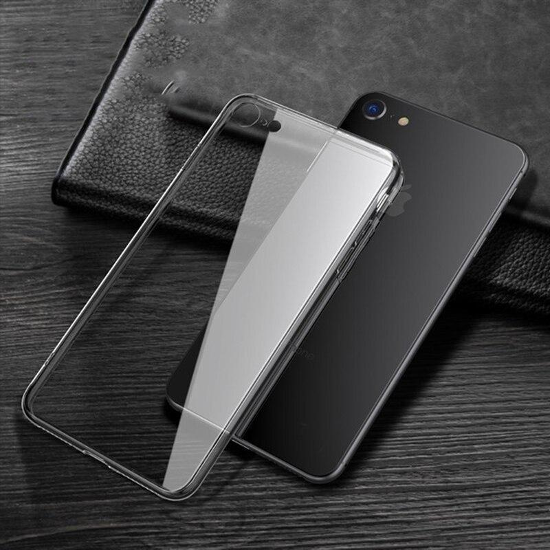 Capa transparente para iphone, capa fina de alta qualidade para iphone se 2020, 2020 se 2 se2
