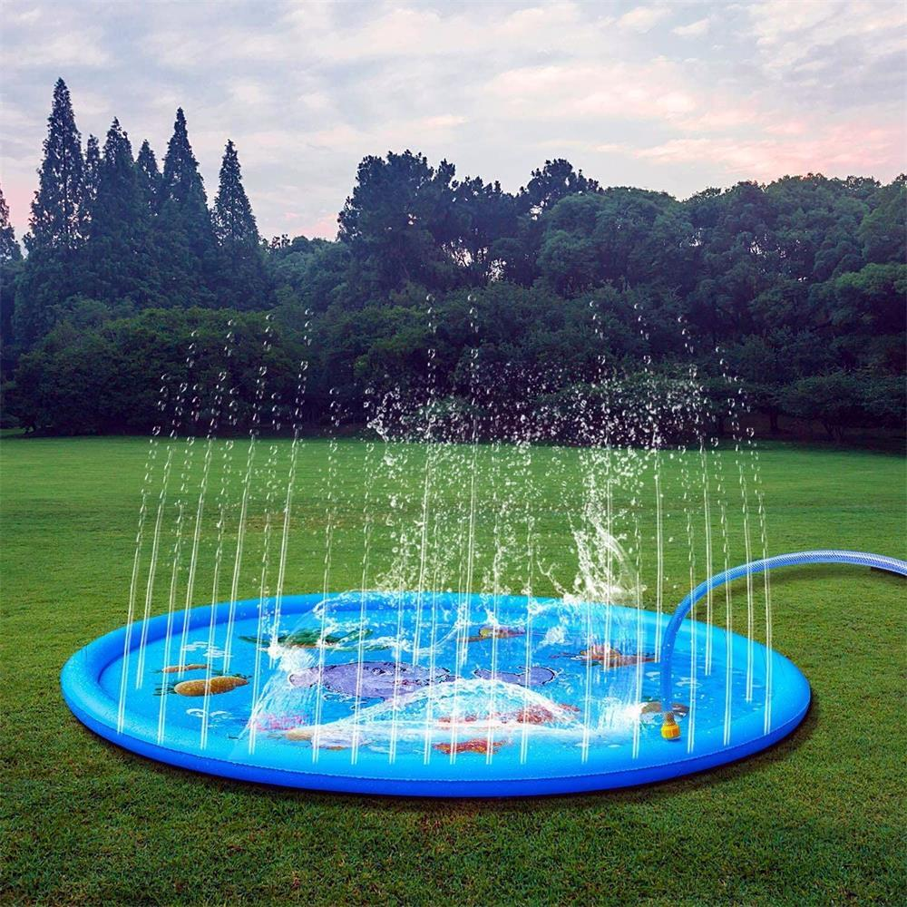 170/150/100cm PVC aspersión piscina juego de agua mat verano césped juegos almohadilla familia inflable Agua pulverizada cojín Pat