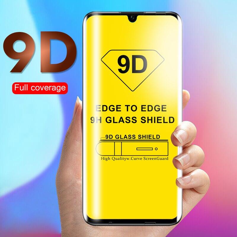 9D cristal para Huawei Honor 10 Lite 20 Pro 10i 8x 8c 8a 8s 9x P inteligente y9 2019 Protector de pantalla de vidrio templado 8 9 x película