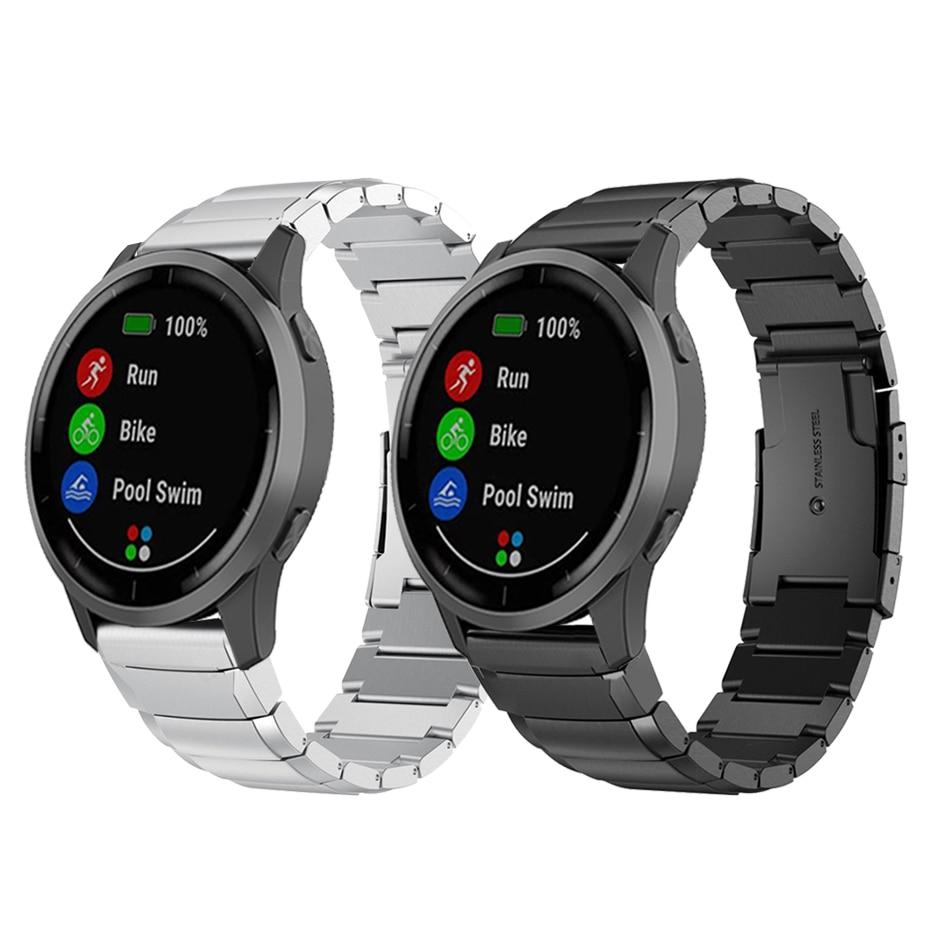 Metal Stainless Steel Strap for Garmin vivoactive 4 Band GarminActive Venu Watch Replaceable accessories Bracelet watchband
