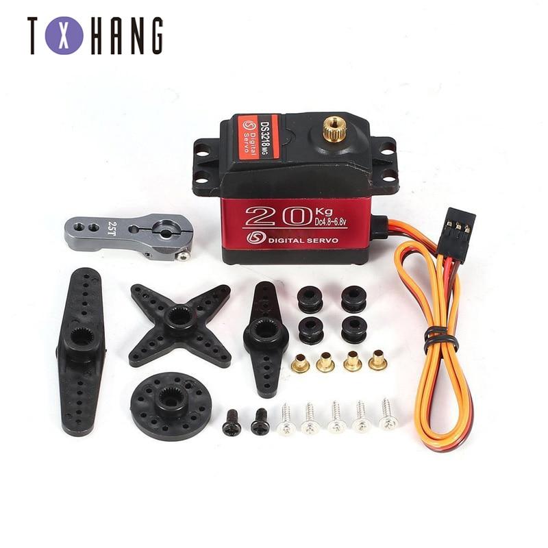 1 X servo resistente al agua DS3218 Actualización y PRO de alta velocidad servo digital de engranaje de metal baja servo 20KG/09S por 1/8 1/10 diy electrónica