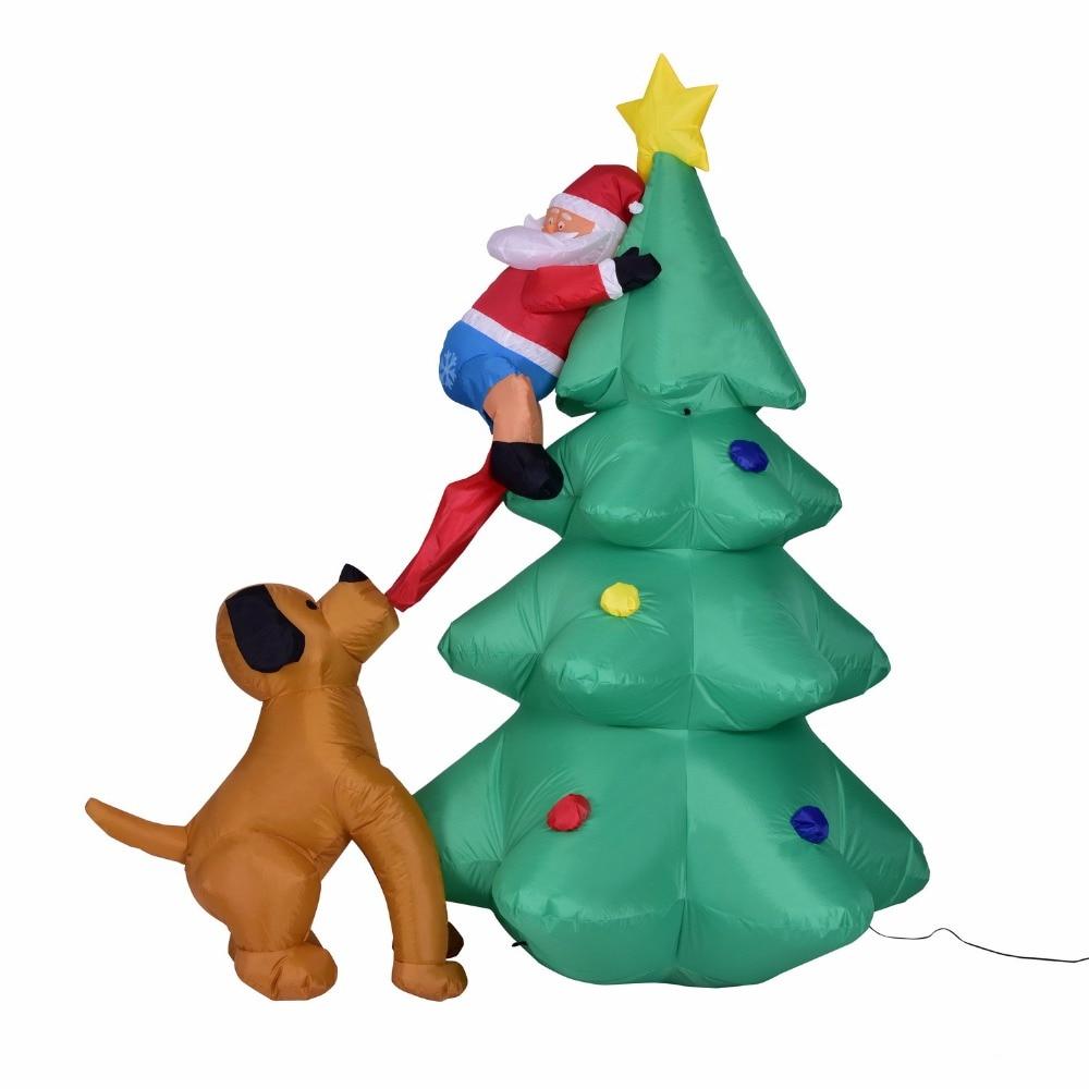 1,8 M luz led gigante inflable árbol de Navidad niño juguetes de soplado Santa Claus regalo de Navidad decoración de fiesta Accesorios