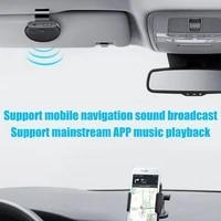 car bluetooth compatible v5 0 wireless vehicle speakers handsfree visor speakerphone hands free car sun car accessorie