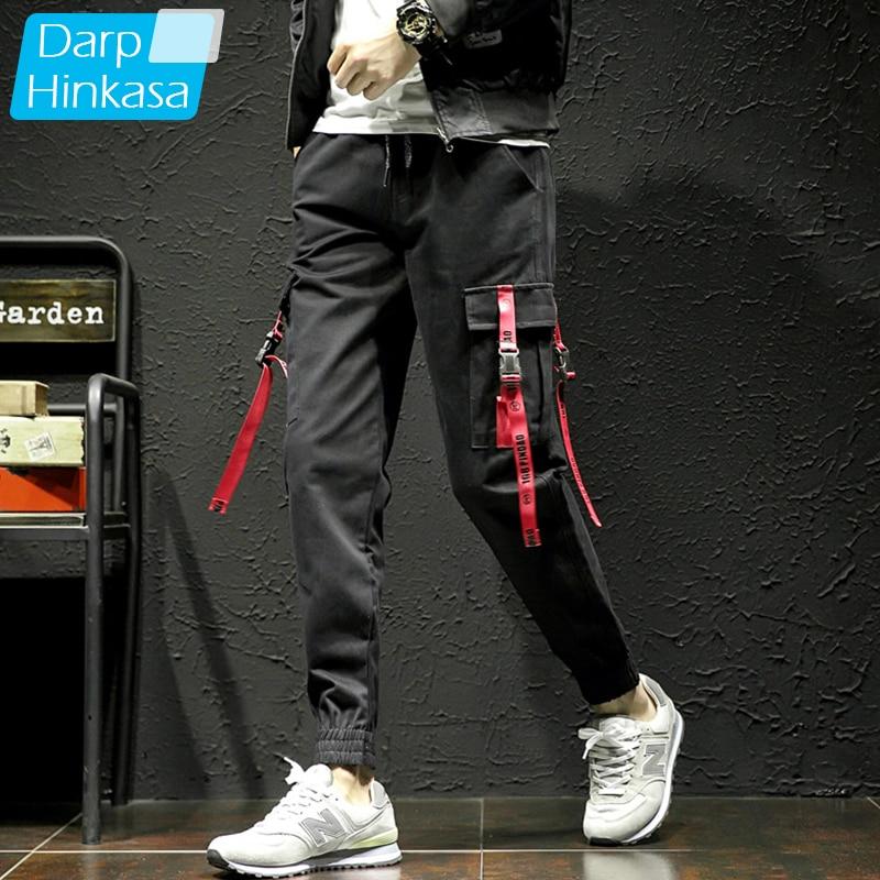 2020 nuevos pantalones negros Hip Hop Cargo para hombres ropa de calle Harajuku Jogger Sweatpant 100% pantalones de algodón para hombres 5XL