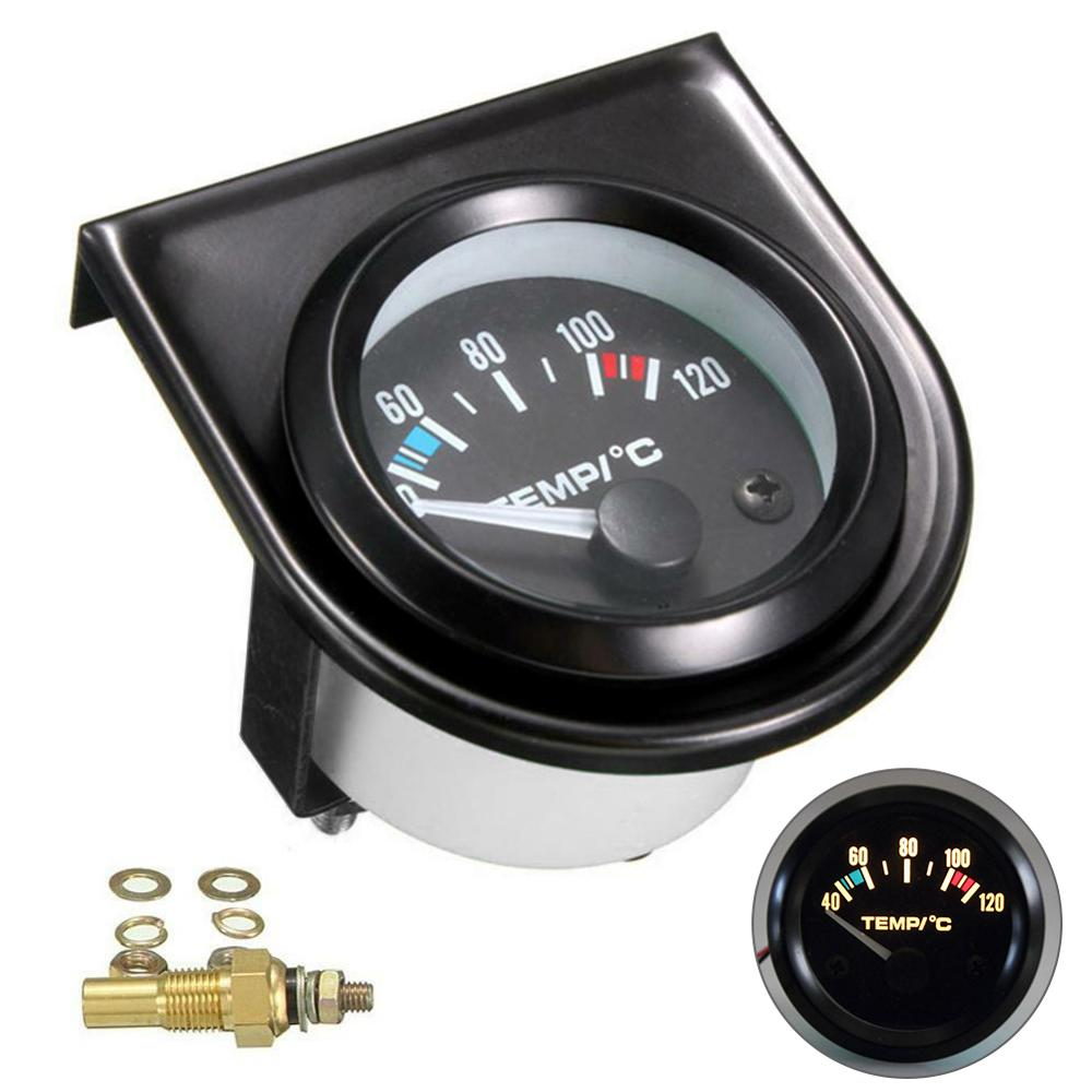 2 52mm water temp gauge blue red led car temperature digital meter tint lens universal gauge pod mount holder black 2 52mm Digital Car Water Temp Temperature Gauge 12V 40-120℃ LED With With Water Temp Joint Pipe Sensor Adapter Auto Meter