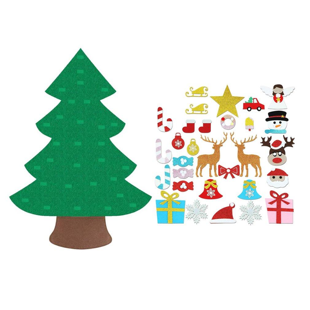 Sapin de noël à monter soi-même feutre tissu tapis Puzzle ornement noël à la main enfants enfants cadeau pour la décoration de la maison