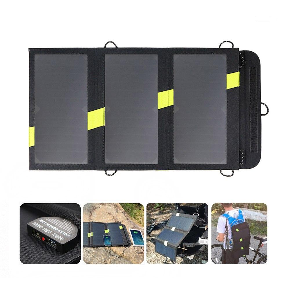 Cargador Solar de alta eficiencia para exteriores, cargador de teléfono con Panel Solar, carga rápida para iPhone 11 X Xr Xs Max Huawei Xiaomi Samsung.
