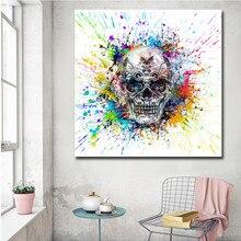 Moderne Vintage affiche abstraite crâne Art toile peinture mur image impression pas cher livraison directe maison chambre décoration photos
