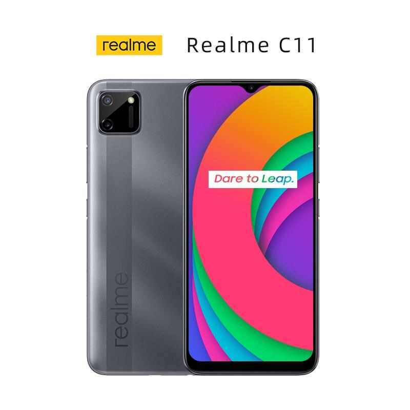 Перейти на Алиэкспресс и купить Новый Realme C11 глобальная версия смартфон 6,5 дюймов 2 Гб оперативной памяти, 32 Гб встроенной памяти, Процессор MTK Helio G35 5000 мА/ч, Батарея 13MP Камера ...