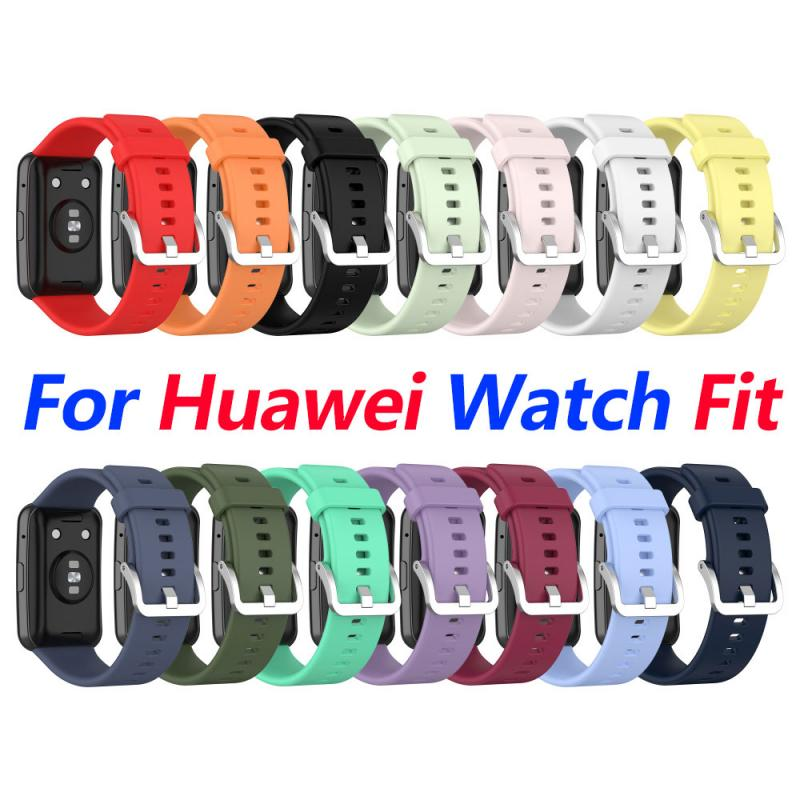 Replacement Wristband Straps For Huawei Watch Fit Silicone Smart Watch Accessories Strap Wearable Strap TXTB1