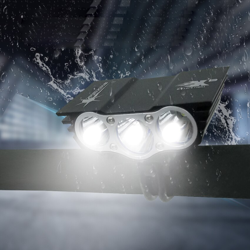 Walkefire-juego de luces Led frontales Para bicicleta, linterna impermeable 3 T6, recargable,...