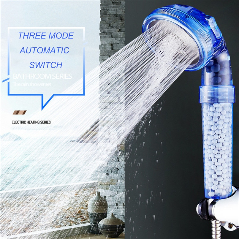 Cabezal de ducha de iones negativos potenciador de ducha tomalina ahorro de agua cabezal de ducha de mano cabezal de ducha grande anti piedra caliza 30A29