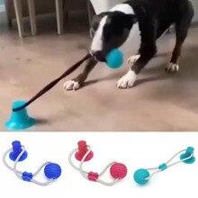 Jouets en boule TPR pour chiens   Ventouse Interactive, jouets en boule, cordes élastiques, nettoyage des dents de chien, mâcher, qi, jouets de traitement, fournitures pour chiots danimaux