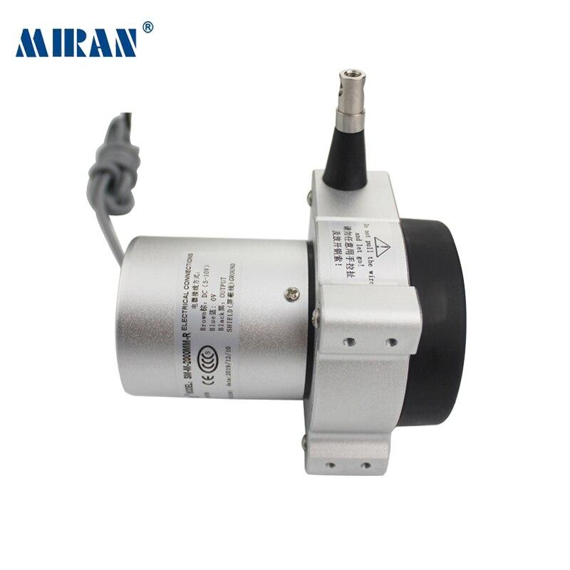 Sensor linear da posição da extensão do cabo da escala do transdutor SM-M 1500mm-4000mm da posição do fio da tração de miran codificador