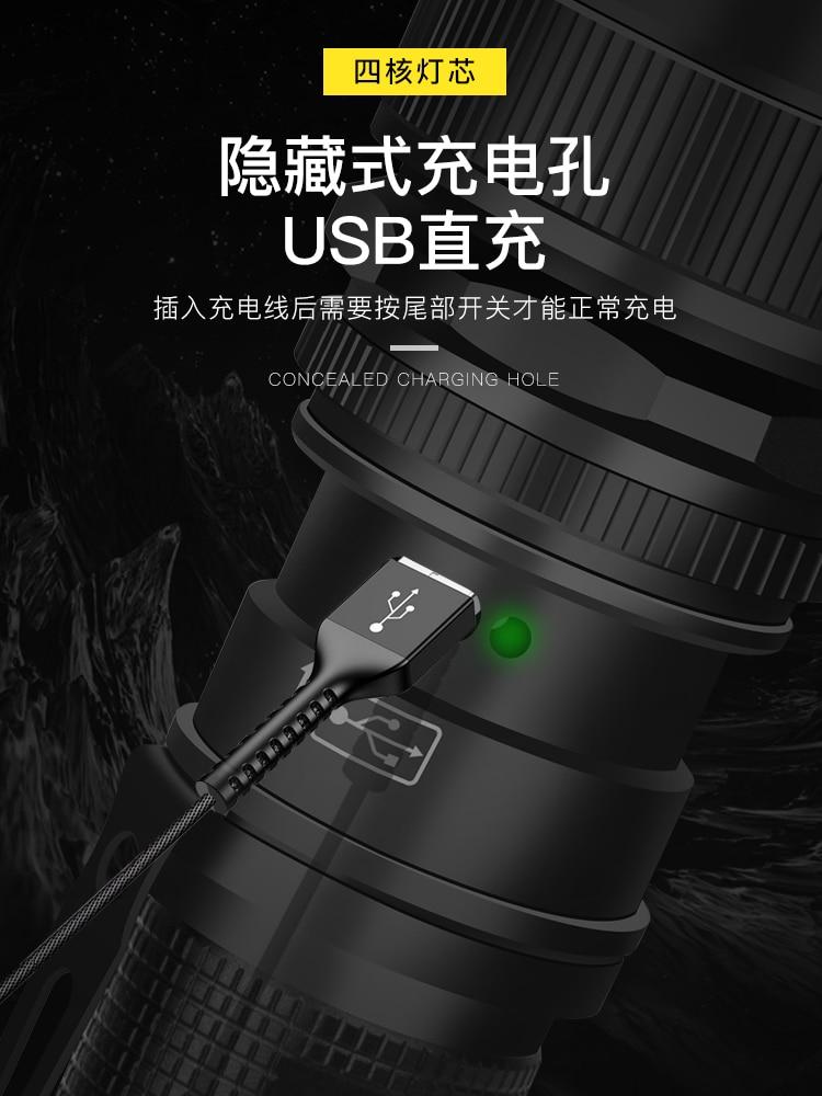 Portable Military Flashlight Outdoor Powerfu Self Defense Waterproof Hunting Flashlight Linterna Led Lighting Torches DB60SD enlarge