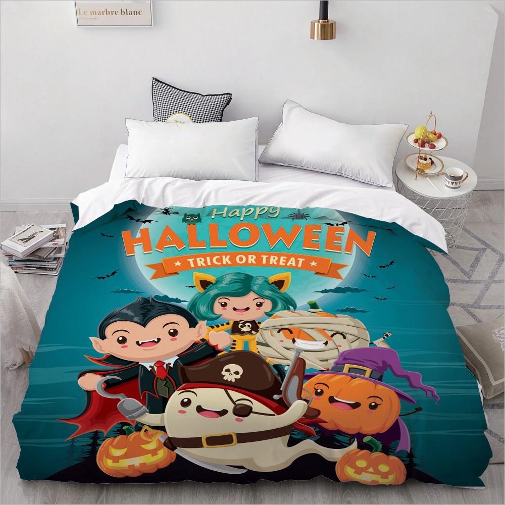 3D غطاء لحاف 200*200/الملكة/الملك/مزدوجة/مخصص ، السرير بطانية/لحاف/حالة ، الفراش للأطفال/طفل/الأطفال 220x240 ، هالوين شبح