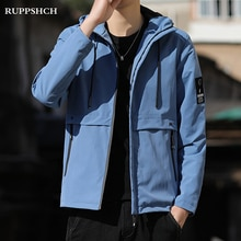 2021 Spring Autumn New Men Cargo Hooded Jacket Men Casual Loose Youth High Quality Big Pocket Street