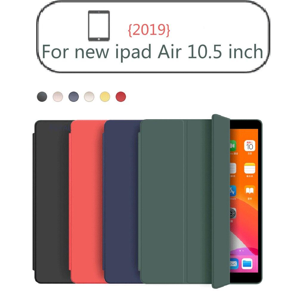 Funda para iPad Air 3 2019, Funda fina magnética, Funda con soporte abatible de silicona blanda, Funda inteligente para iPad Air3, fundas de 10,5 pulgadas