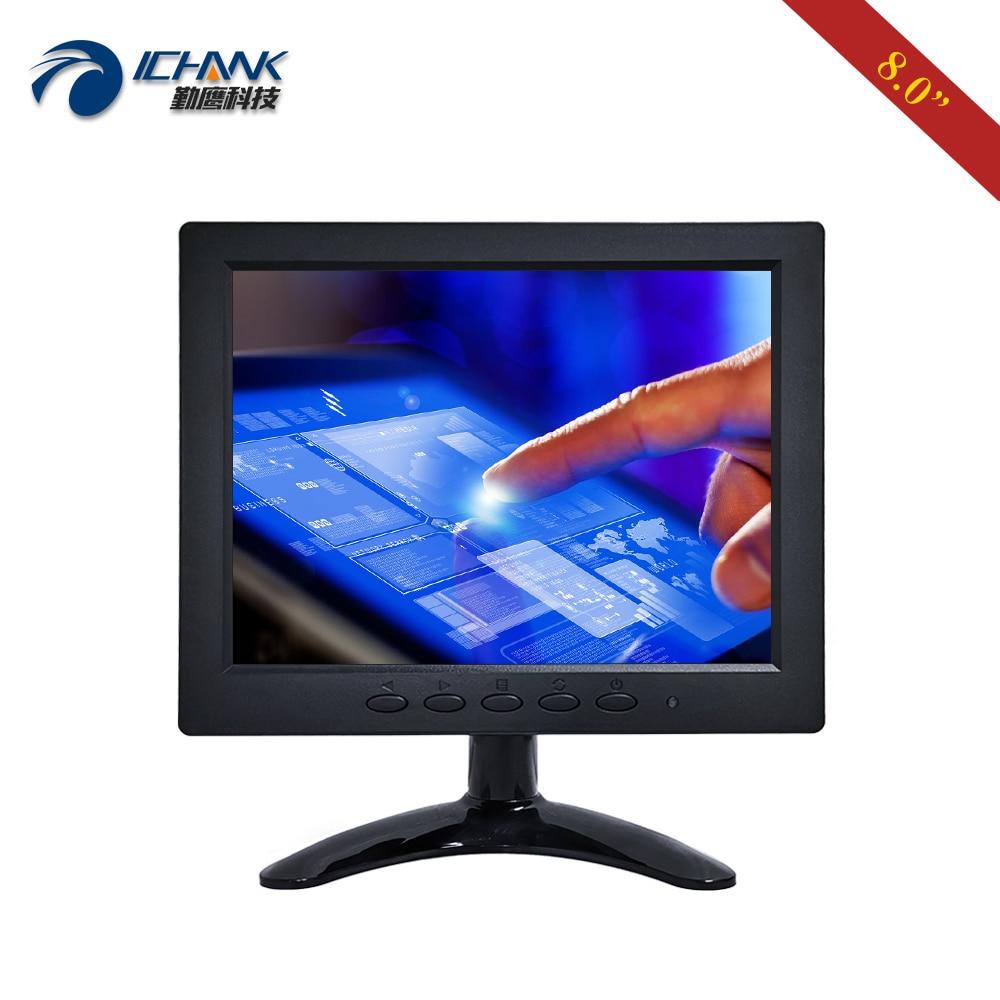 ZB080JC-262R/8 pulgadas 1024x768 43 VGA HDMI USB Mini portátil pequeño tamaño cuatro cables resistivo táctil LCD pantalla PC Monitor Display